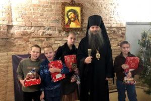 Утренник, посвящённый празднику Рождества Христова, в Свято-Николаевском соборе